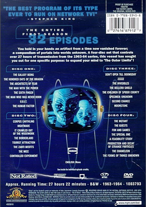Outer Limits The The Original Series Season 1 Dvd