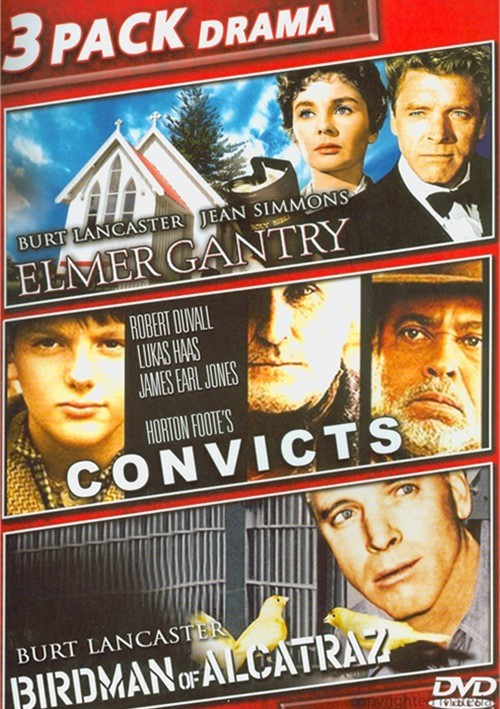 Elmer Gantry / Convicts / Birdman Of Alcatraz (Triple Feature) Movie