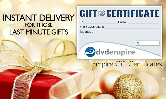 Gift Certificates Image.